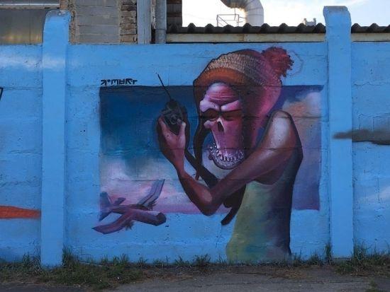 Na drodze prowadzącej na Lisią Górę powstało blisko 100-metrowe graffiti [FOTO] - Aktualności Rzeszów - zdj. 8